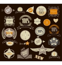 Set of retro vintage labels vector