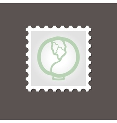 Cabbage stamp outline vector