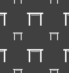 Stool seat icon sign seamless pattern on a gray vector