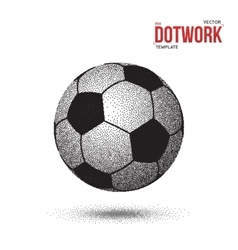 Dotwork football soccer ball icon made in vector