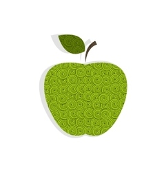 Textured green apple vector