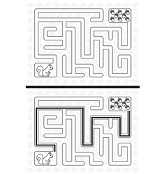Squirrel maze vector image