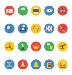 Education colored icons 7 vector