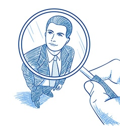 Zoom magnifying glass vector