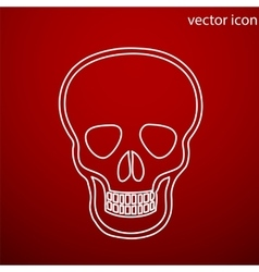 Skull icon and jpg flat style object art vector