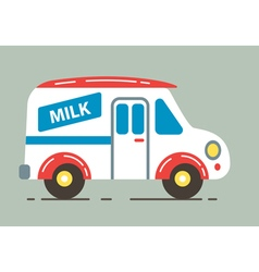 Milk car vector