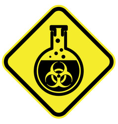 bio hazard warning sign vector image vector image
