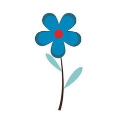 Blue flower natural spring decoration image vector