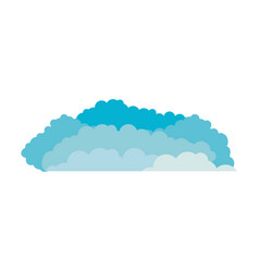 clouds cumulus blue and white background vector image vector image