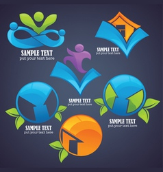 collection of eco friendly symbols and icon vector image vector image