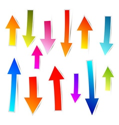 Colorful Paper Arrows Set vector image