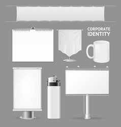 Corporate identity empty blank white set vector