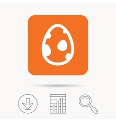 Dinosaur egg icon Birth symbol sign vector image vector image