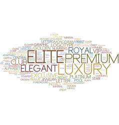 Elite word cloud concept vector