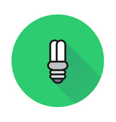 energy saving light bulb on round background vector image vector image