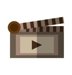 Film clapper chalkboard scene icon shadow vector