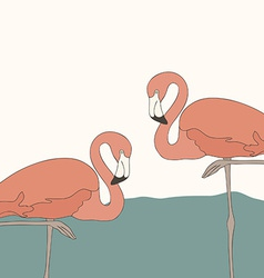 FlamingoStand7 vector image