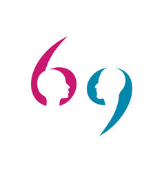 gender 69 symbol vector image