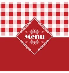 Gingham pattern menu design 1303 vector