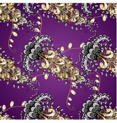 Golden pattern oriental style arabesques purple vector