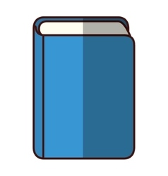 isolated book library vector image