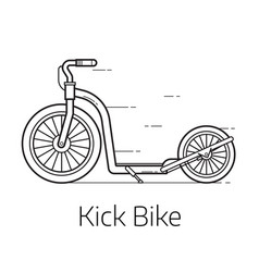 Kick scooter thin line vector