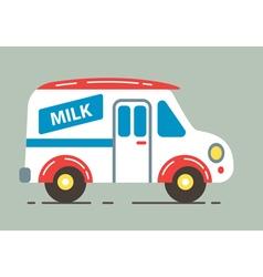 Milk car vector