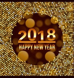 new year 2018 celebration background vector image