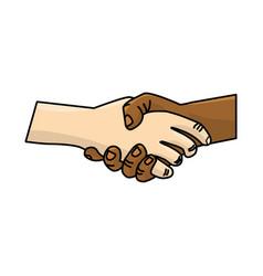 Nice hands together like friendship symbol vector