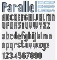 Parallel black and white font and numbers striped vector