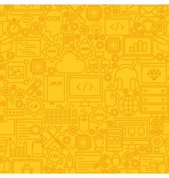 Programming Yellow Line Tile Pattern vector image