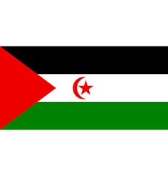 sahrawi arab democratic republic flag vector image vector image