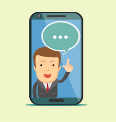 Screen smartphone with virtual assistant - vector