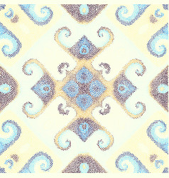 Seamless mosaic art pattern vector