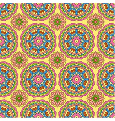 Seamless pattern made from abstract circle mandala vector