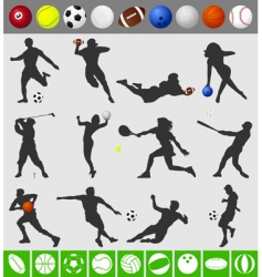 sports with a ball vector image vector image