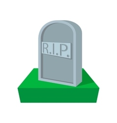 Tombstone with rip cartoon icon vector