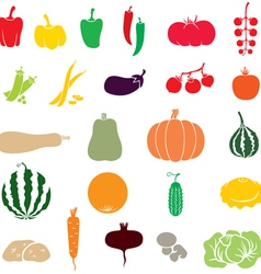 Vegetables color vector