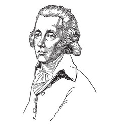 William pitt the younger vintage vector