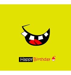 happy birthday smile vector image
