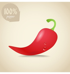 Cute fresh red hot pepper vector