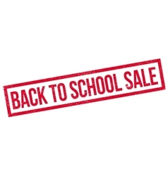Back To School Sale rubber stamp vector image