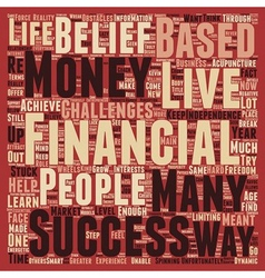 The 3 biggest obstacles to financial success text vector