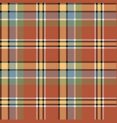 Brown beige colors check fabric texture seamless vector