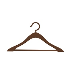 A clothes rack is placed vector