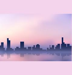 Purple city vector