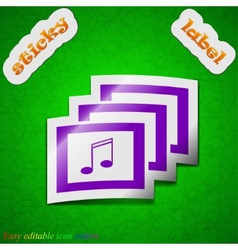 Mp3 music format icon sign symbol chic colored vector