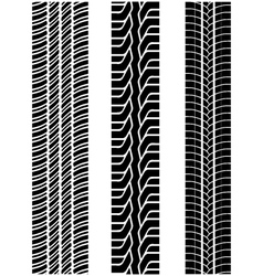 Tread of cars 2 vector