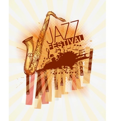 jazz festival background vector image