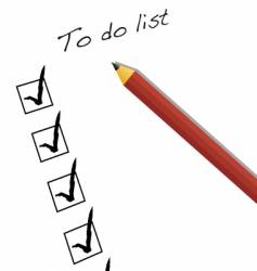 To do list vector